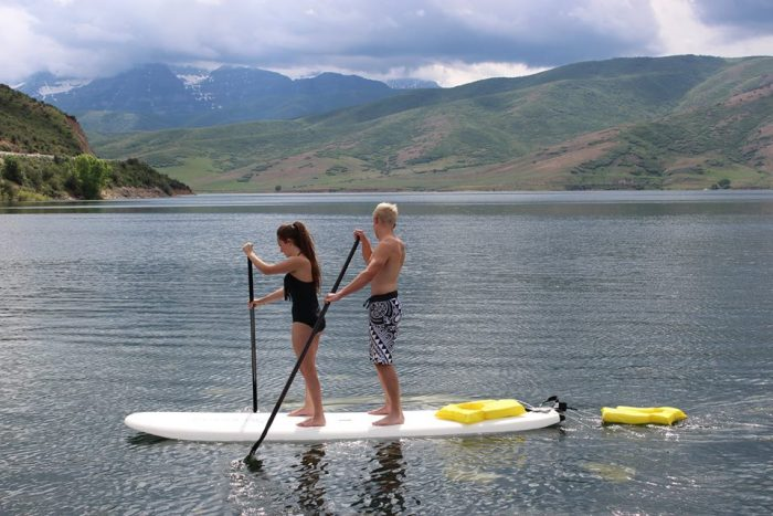 7. Paddleboarding on Deer Creek Reservoir.