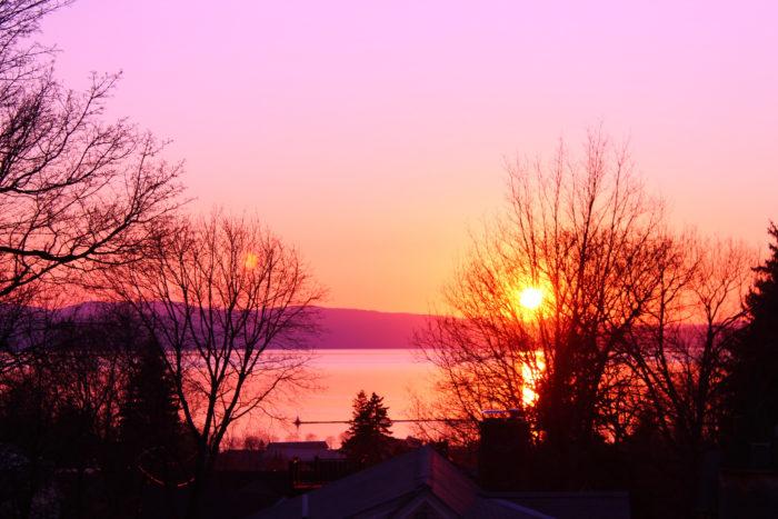 9.  Sunsets over Lake Champlain.