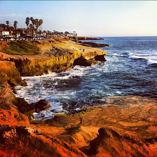 10. Sunset Cliffs is a popular spot to capture handsome photos of the rugged natural landscape in San Diego.