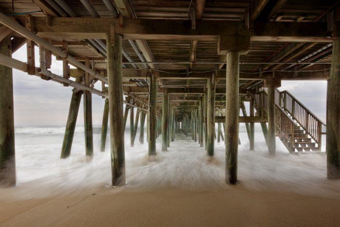 13. Under the pier in OOB.