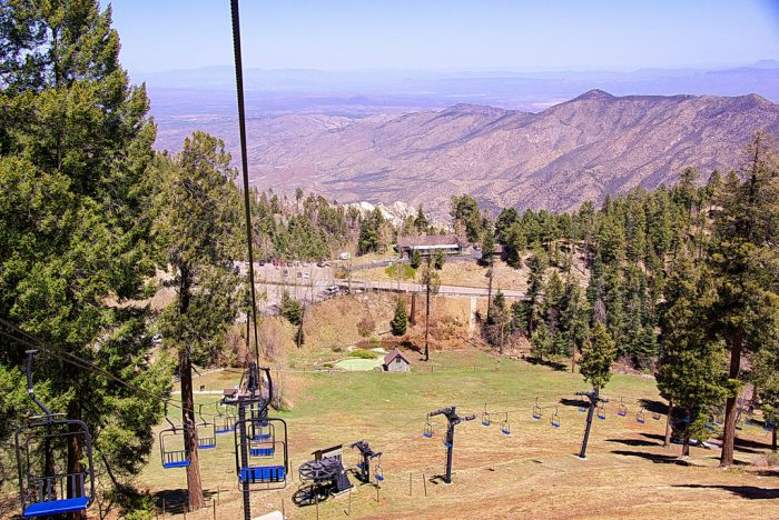7. Ride a ski lift for a lovely mountain view.