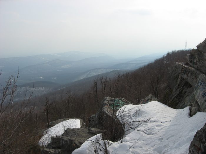 10. See miles of mountains from the overlook atop of Dan's Mountain.