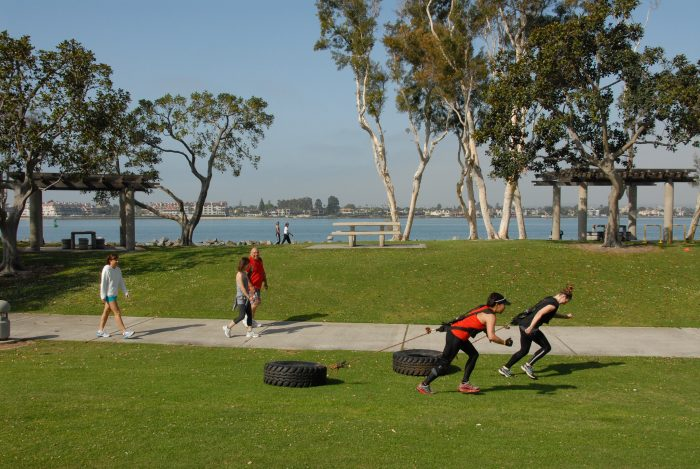 10. Take the gym outside and get some fresh air and exercise.