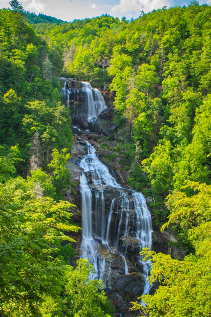 11. Falling at 811 ft. (with the bottom falling into SC) Whitewater Falls is the highest fall east of the Rockies. A waterfall to trump all others.