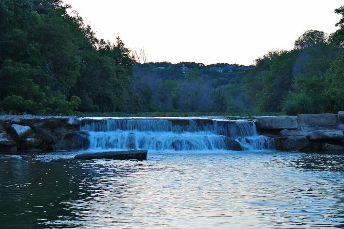 2. What a serene and calm setting for this waterfall at Barton Creek Greenbelt.