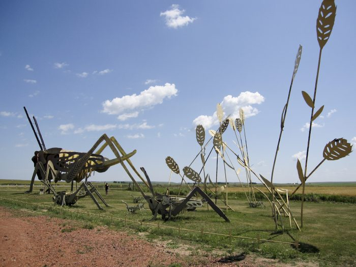 "3. Sculptures on the Enchanted Highway will make you feel like you tried out a mysterious potion labeled ""Drink Me."""
