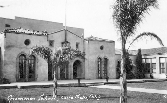 4. Grammar School in Costa Mesa prior to being rebuilt in 1933 due to an earthquake. This was located on 19th and Newport.