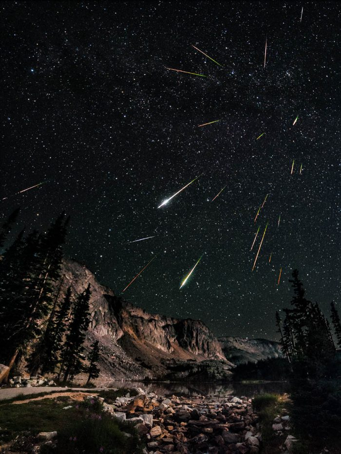 2. Watching a meteor shower over the Snowy Range.
