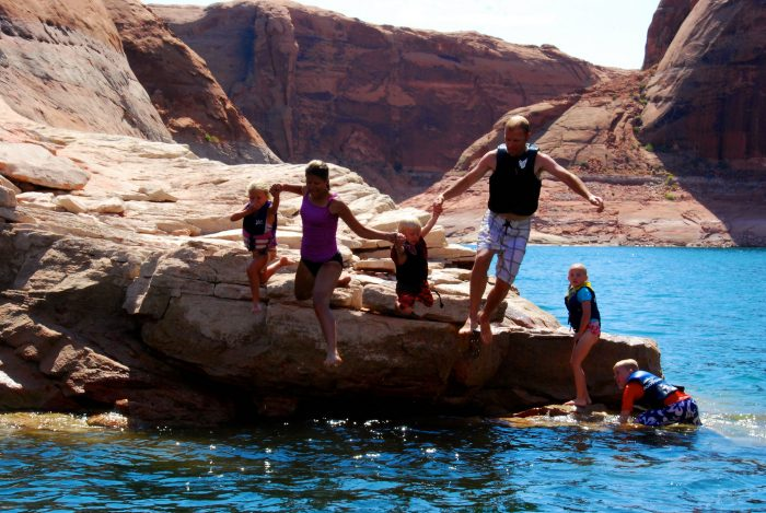 9. Jump off a cliff at Lake Powell.