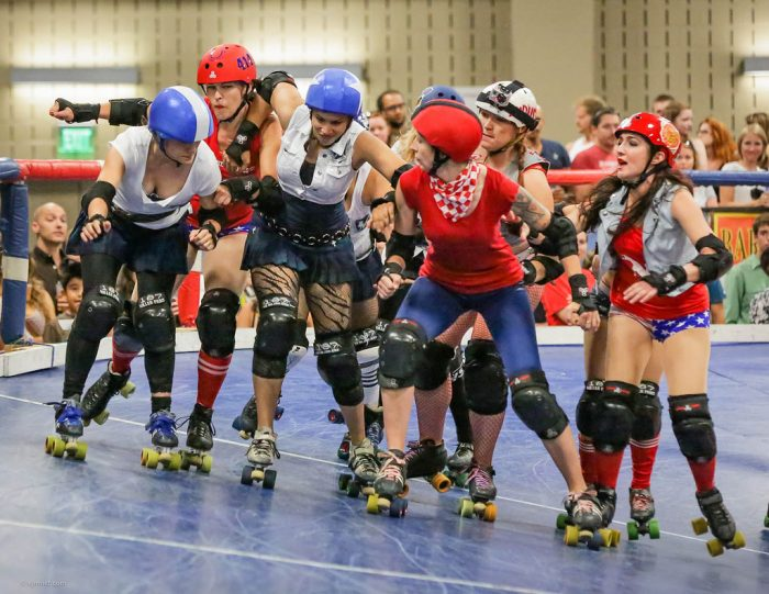 4. Okay, your girl may not be a cowgirl, but she's hoss enough to roller derby or play full-on football. Pretty popular activities for the ladies here in Austin.