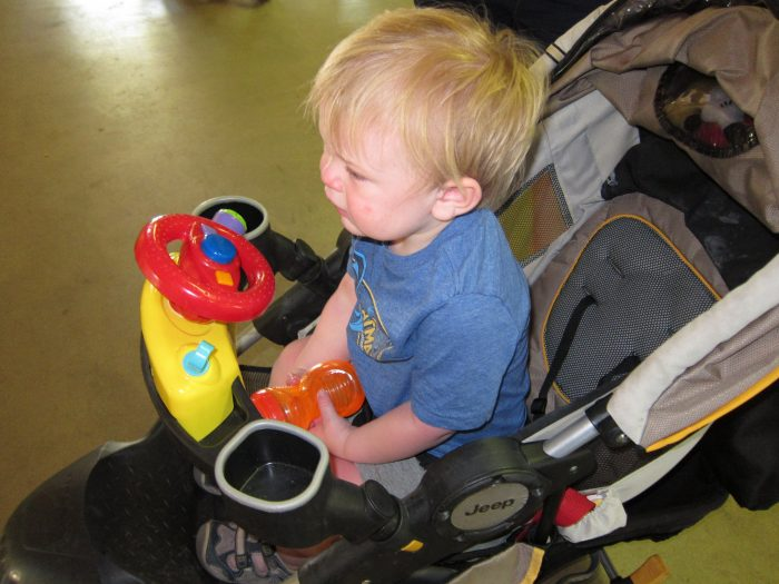 18. Where's the stroller? I'm exhausted and I need my sippy cup.