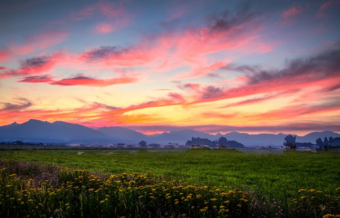 3. The Bitteroot Valley at sunset captures rural Idaho at its best.