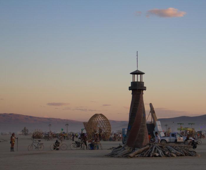 10. Speeding on your way to Burning Man.