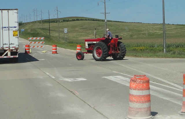 5. You're patient when driving near tractors or road construction. Because hey, you appreciate the food and the nice roads and the people that work to create them.
