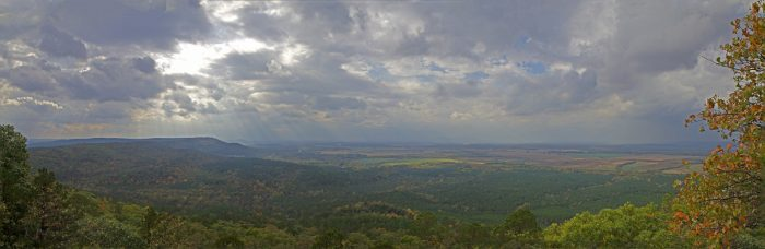 12.	Lose your breath at M.A. Richter Overlook on Petit Jean Mountain.