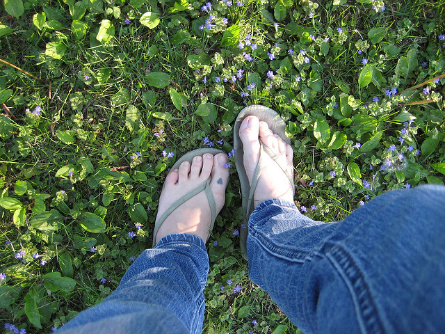 5. Look for the person hiking our trails in flip flops.