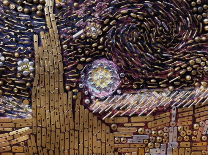 15. This insanely creative interpretation of Van Gogh's Starry Night is made entirely of doorknobs and handles. It was created by the owner of Union Hardware in Bethesda, David Goldberg.