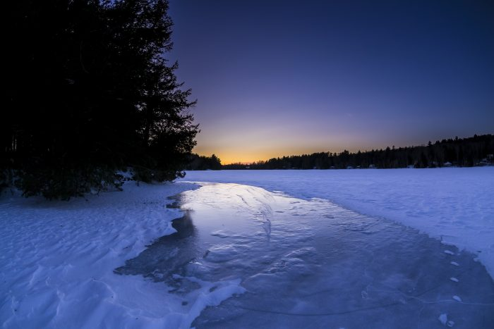 8. Icy mornings at Puffer's Pond in Dexter.