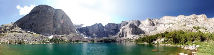 4. Soaking up the beauty of the Wind River Mountains.