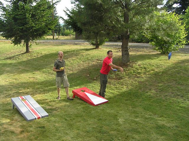 1. Host a cornhole tournament.