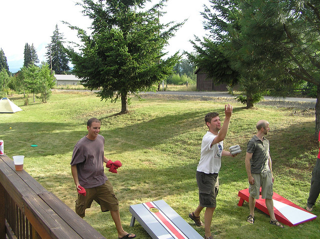 13. An outdoor celebration would not be complete without cornhole.
