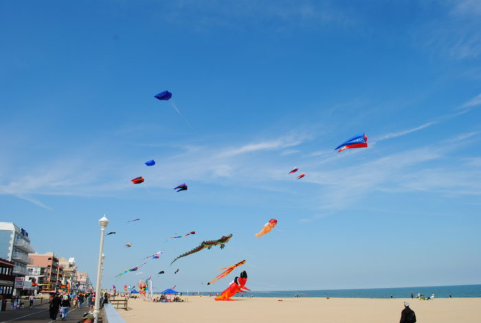 12. Spend some time observing the colorful kites at Ocean City for an instant dose of glee.