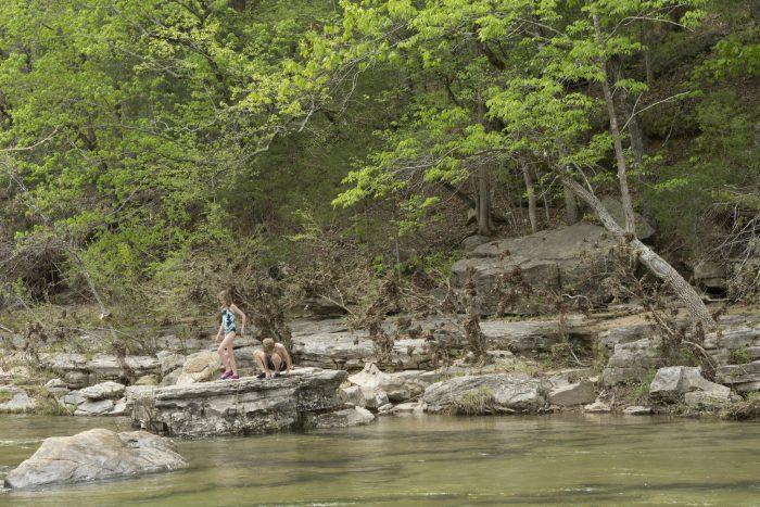 6. Jump in a creek.