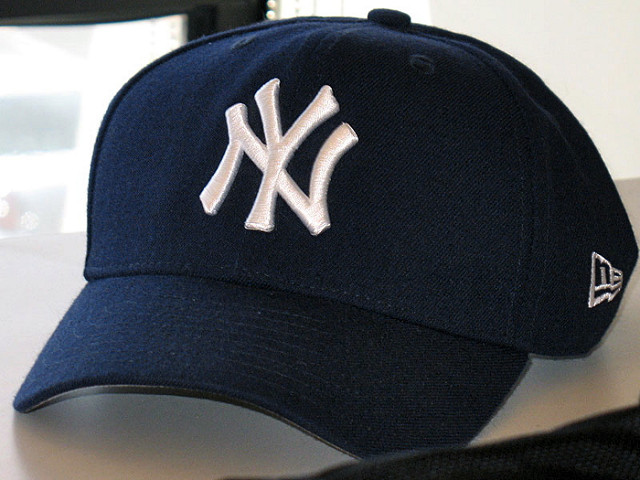 4. Look for New York Yankees apparel.