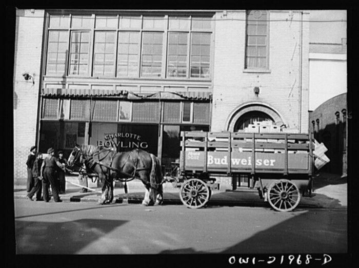 4. A true classic, a beer cart in Charlotte circa 1943.
