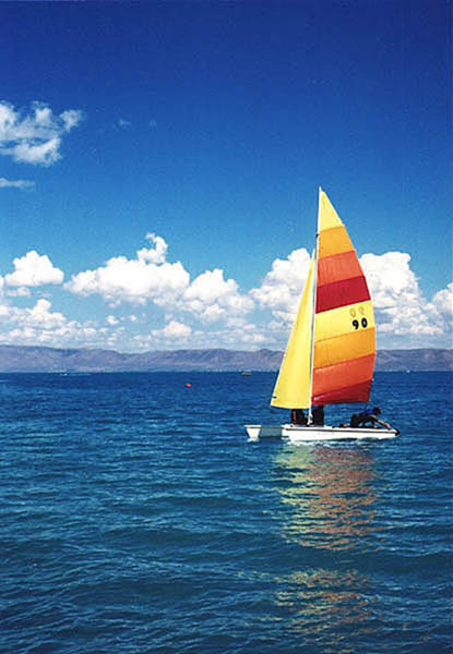 16. Sailboating on Bear Lake.