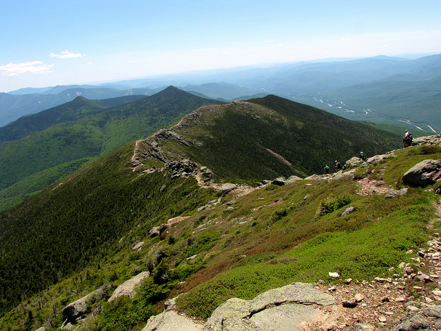 4. Looking southward from Mount Lincoln shows what a long journey it is through the New Hampshire mountains.