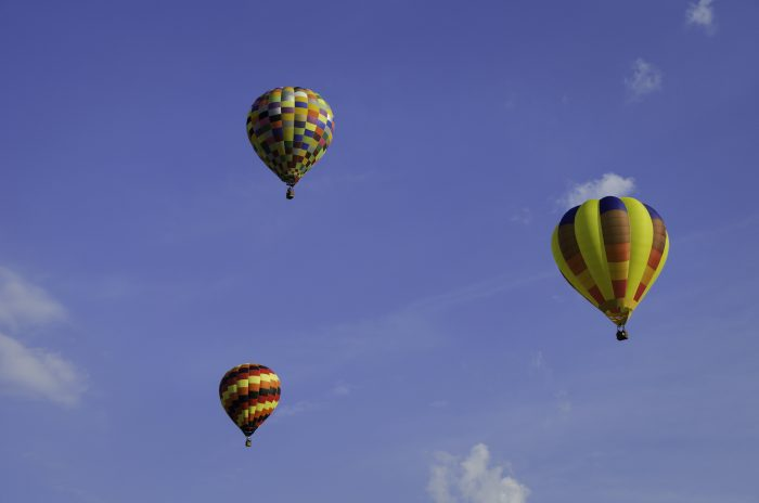 9. Up in the air.