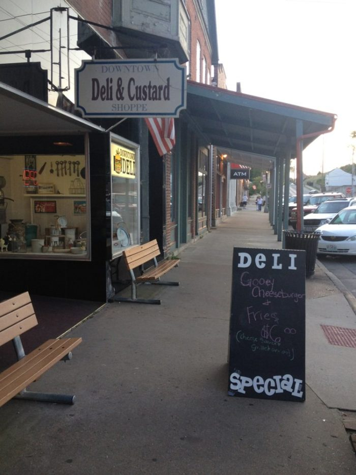 Before we head out of Hermann, let's stop at the Downtown Deli & Custard Shoppe.
