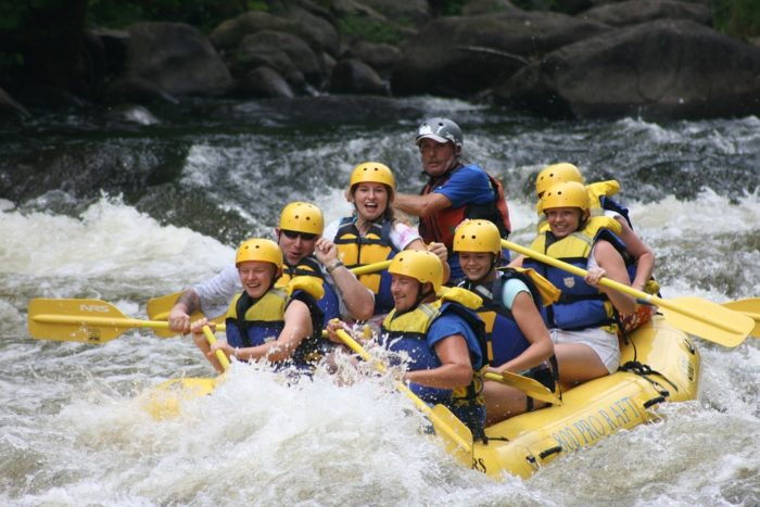 9. Enjoy an afternoon rafting the rivers.