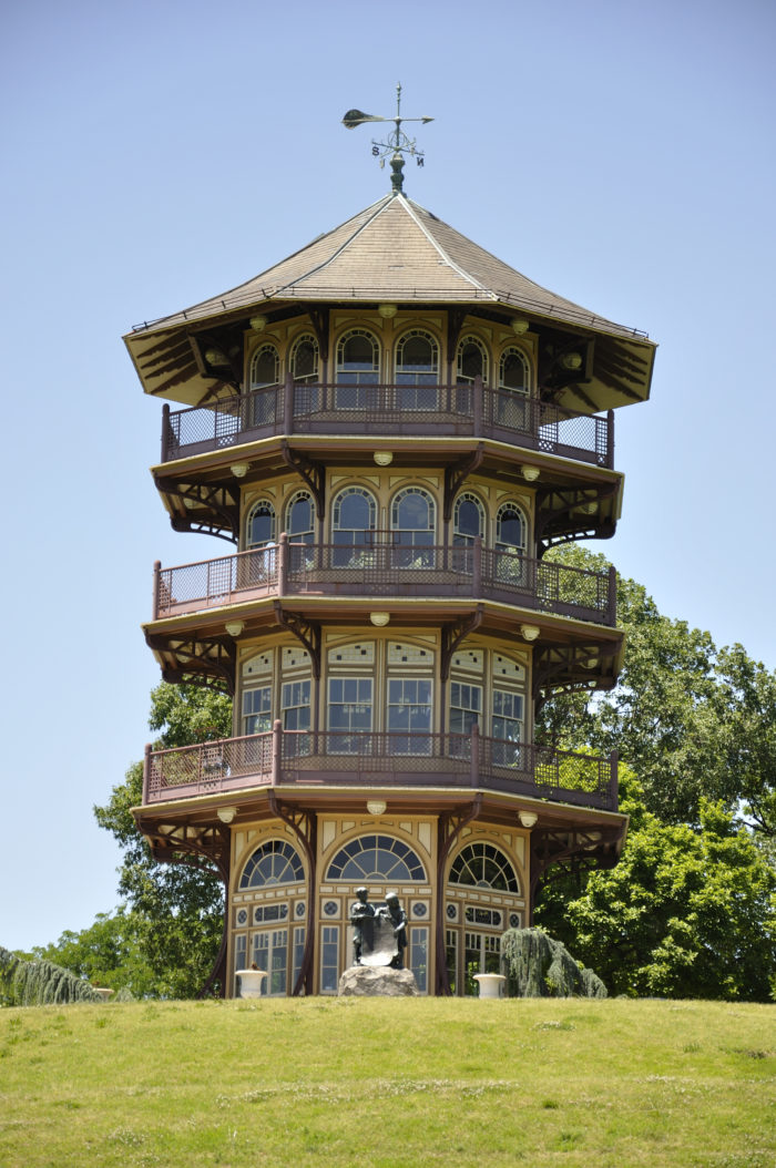 8. This unique structure looks like it belongs in another country but it's right here in Baltimore's Patterson Park.