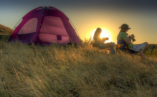 8. Go camping.