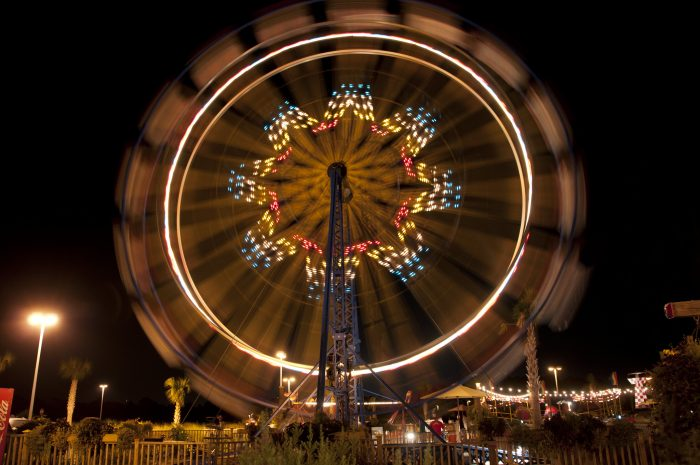 4. A Ferris Wheel in action at Miracle Strip at Pier Park, Panama City.