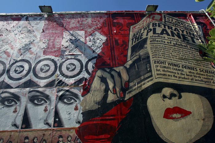 6. This colorful mural is part of the Wynwood Walls in Miami.