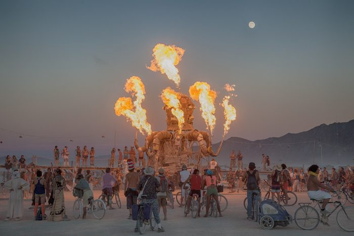 6. Many Nevadans either participate in or attend Burning Man.