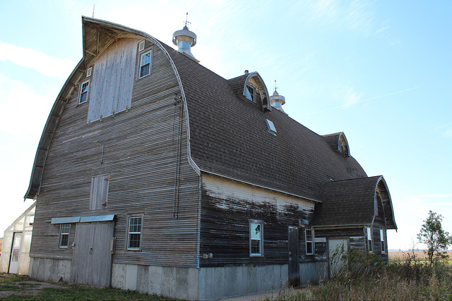 5. This charming old barn that makes you wish you were spending the morning on this farm.
