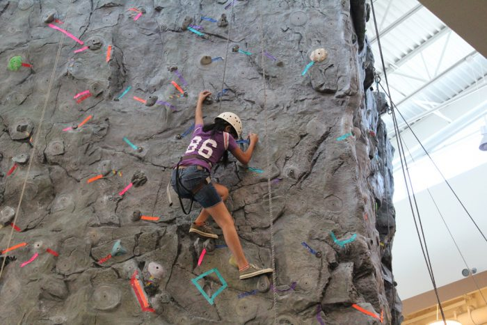 2. Want to stay active without risking a sunburn? Try some indoor rock climbing.