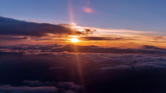 10. An Idaho sunset as seen from 35,000 feet is absolutely incredible.