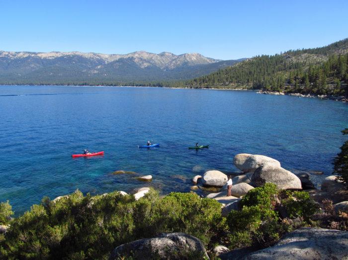 Kayak on the lake.