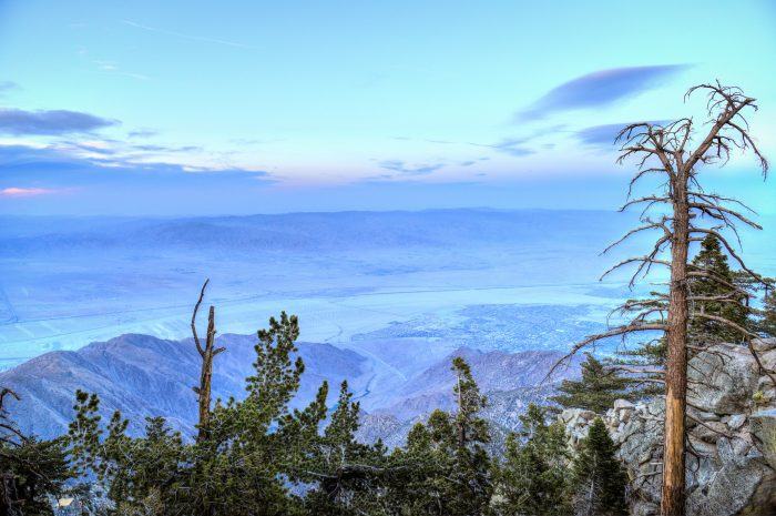 4. The view of Southern California as experienced from the Palm Springs Aerial Tramway.