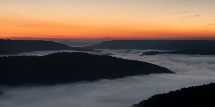 18. Wake up early and watch the fog clear.