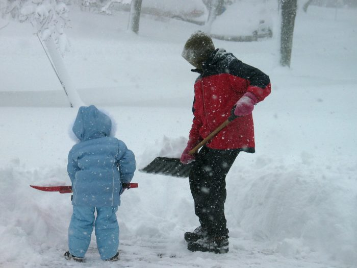 12. You've shoveled your driveway while it's STILL snowing, because you might as well get a head start.