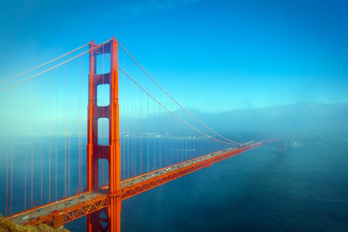 2. Walk or bike across the Golden Gate Bridge.