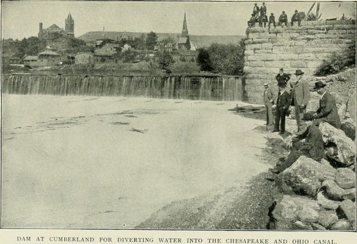 11. This Cumberland Dam at the C & O Canal was photographed in 1900.