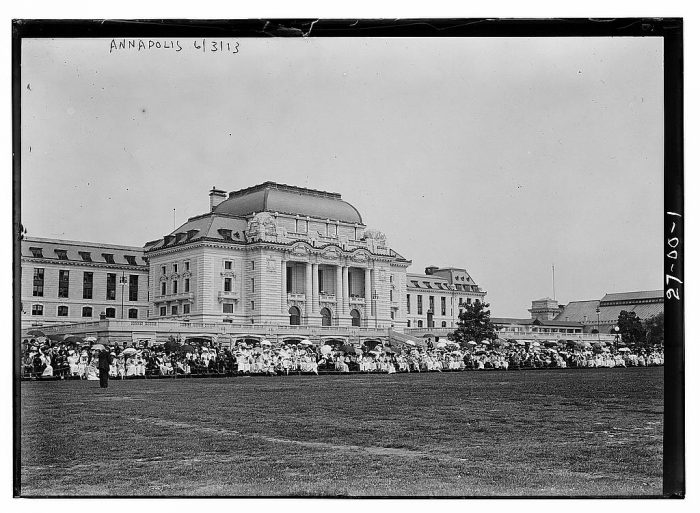 10. Bancroft Hall at the U.S. Naval Academy in Annapolis. Photo taken in 1913.