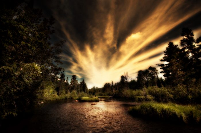 1. Fly fishing in the Au Sable River
